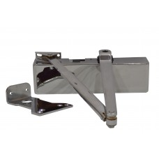 Polished Chrome Adjustable Heavy Duty Power Door Closer 2-4