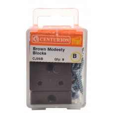Brown Modesty Block (Pack of 8)