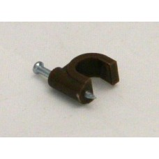 Cable Clips - Brown Round - 7mm