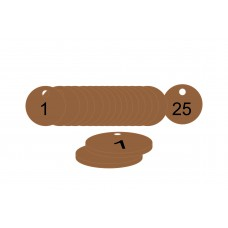 33mm dia. Traffolite Tags - Bronze Effect (1 to 25)
