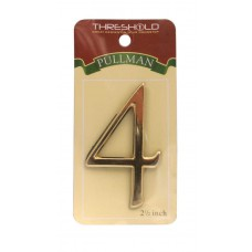"""2 1/2"""" Gold Effect Pullman Numeral 4"""