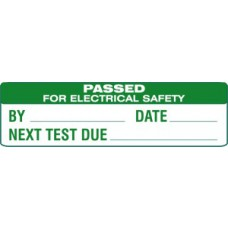 Passed for electrical safety - SAP (51 x 15mm, sheet of 80 labels)