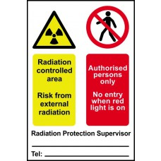 Radiation controlled area Authorised persons only... - PVC (200 x 300mm)