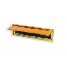 Draught Excluding Letter Plate - Gold Finish Aluminium