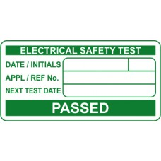 PASSED Electrical safety test - Labels (50 x 25mm Roll of 500)