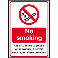 It is an offence to smoke - SAV (148 x 210mm)