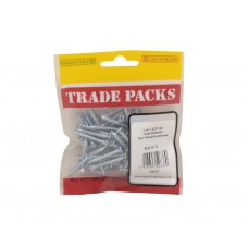 "1 1/4"" x 8 ZP Pozi Twinthread C/Sunk Woodscrews Trade Packs (pack of 70)"