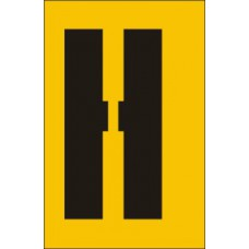 50mm Stencil - Character 'H'