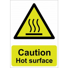 Caution Hot surface - RPVC (210 x 148mm)
