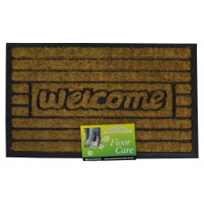 Mats - 'Welcome' Coir Brush Pile in Rubber Case Mat - 60cm x 40cm