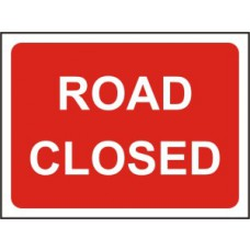 600 x 450mm Temporary Sign & Frame - Road Closed
