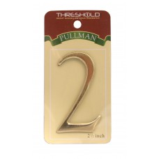 "2 1/2"" Gold Effect Pullman Numeral 2"