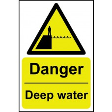Danger Deep water - SAV (200 x 300mm)