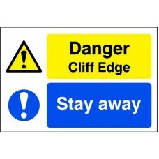 Quarry Sign: Danger Cliff edge / Stay away - FMX (600 x 400mm)