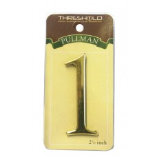 "2 1/2"" Gold Effect Pullman Numeral 1"