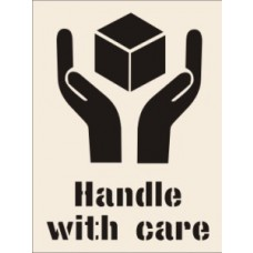Handle With Care Stencil (190 x 300mm)