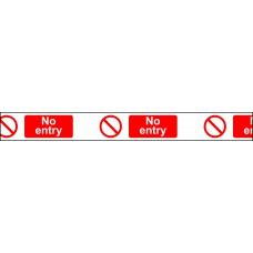 75mm x 250m 'No Entry' Non Adh Barrier Tape