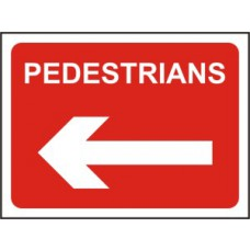1050 x 750mm  Temporary Sign & Frame - Pedestrians (arrow left)