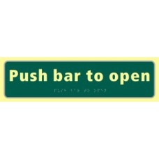 Push bar to open - TaktylePh (450 x 125mm)
