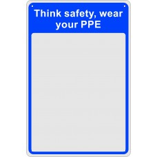 Safety Mirror:  Think safety, wear your PPS - MIR (200 x 300mm)