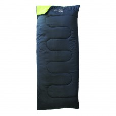Essential Envelope Sleeping Bag - Black & Green