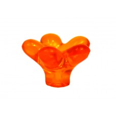 35mm Orange Plastic Flower Knob