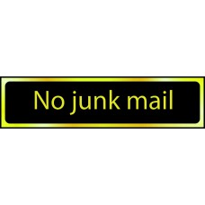 No junk mail - POL (200 x 50mm)