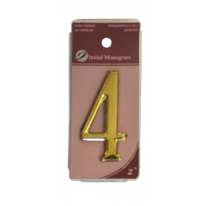 """2"""" Gold Effect Numeral 4"""