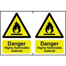 Danger Highly flammable material - PVC (300 x 200mm)