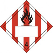 Flammable 4 Symbol Striped - SAV Placard (250 x 250mm)