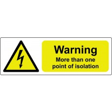 Warning more than one point of isolation - Pack of 5 SAV (75 x 25mm)