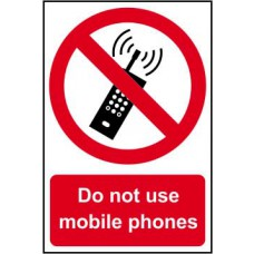 Do not use mobile phones - PVC (200 x 300mm)