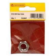 M12 SS Hex Nuts (Pack of 1)