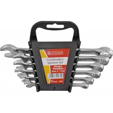 Combination Spanner Set - Polished Head - 6 Piece - 8-17mm