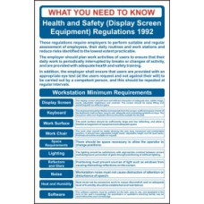 Safety Poster: DSE Regulations - RPVC (400 x 600mm)