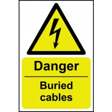 Danger Buried cables - SAV (200 x 300mm)