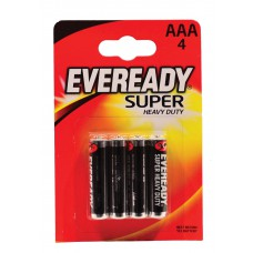 Eveready - Super Zinc Batteries - S3927 AAA x 4