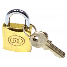32mm Brass Tri-Circle Padlock
