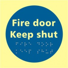Fire door Keep shut - TaktylePh (150 x 150mm)