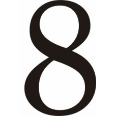 51mm Black Traditional Oldstyle Font Vinyl Number 8