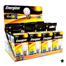 Energizer - LED Bulb - Golf 6W 470LM Opal B22 Warm White