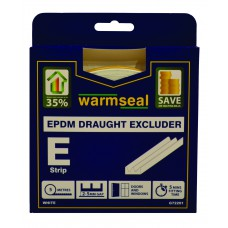 5m White 'E' Profile Longlife Foam Draught Excluder