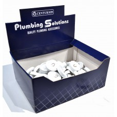 "Display Box Deal - 1 3/4"" White Sink Plugs"