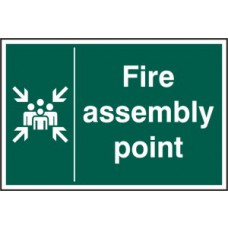Fire assembly point - RPVC (200 x 300mm)