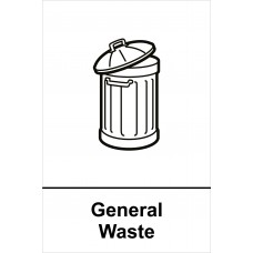Recycling: General Waste - RPVC (200 x 300mm)