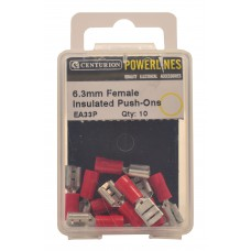 6.3mm Red Female Insulated Push-Ons  (Pack of 10)