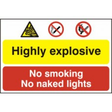 Highly explosive No smoking or naked lights - PVC (600 x 400mm)