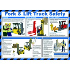 Safety Poster - Fork & lift truck safety - LAM 590 x 420mm