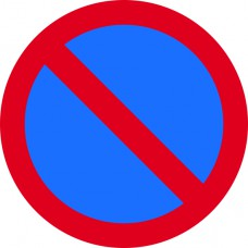 450mm dia. Dibond 'No Waiting' Road Sign (with channel)