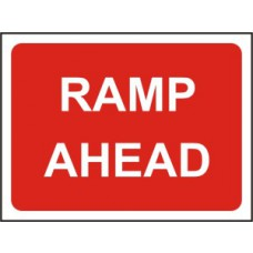 1050 x 750mm  Temporary Sign & Frame - Ramp ahead